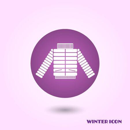 winter jacket: Winter jacket icon Stock Photo