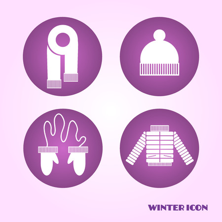 겨울 옷 아이콘
