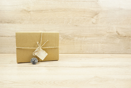 Eco gift box with cone Stock Photo