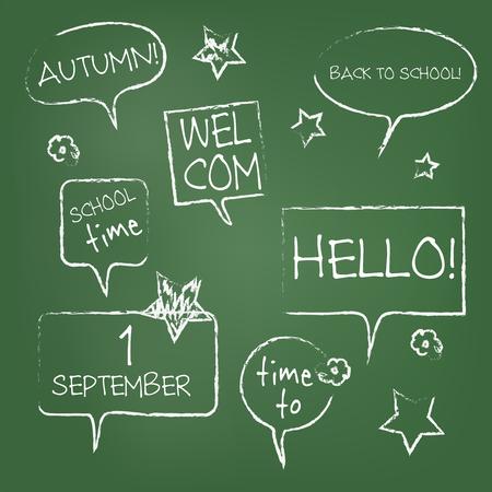 hand write: chalkboard with hand write Illustration
