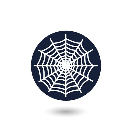 spider web: Spider web button vector set