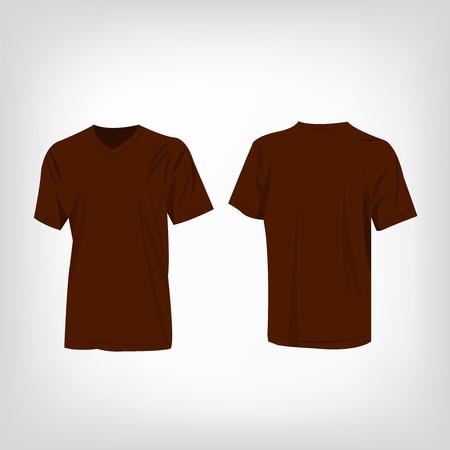 raglan: Brown t-shirt vector