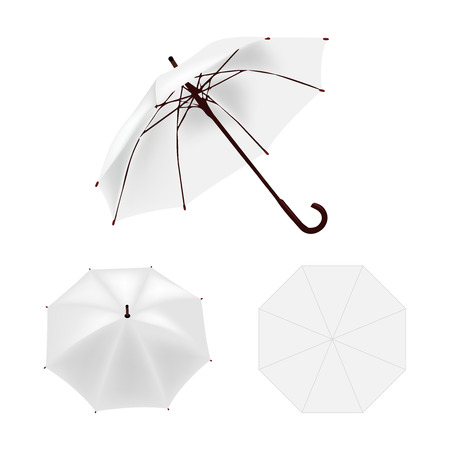 White umbrella vector isolated