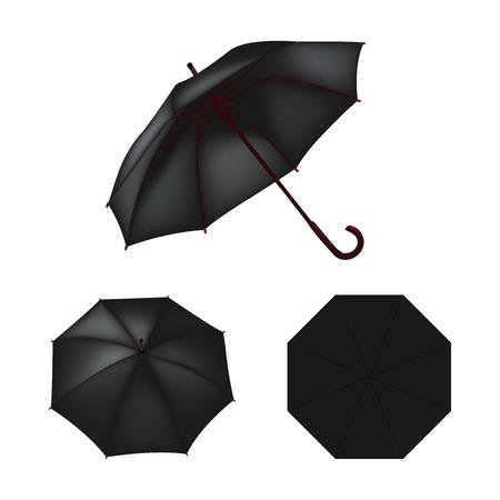 umbrella: Black umbrella isolated