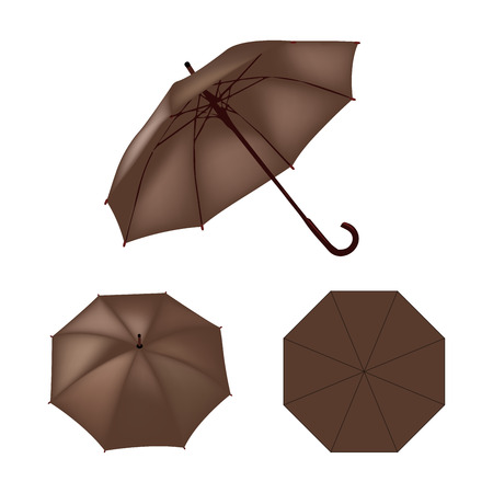 brown: Brown umbrella vector isolated