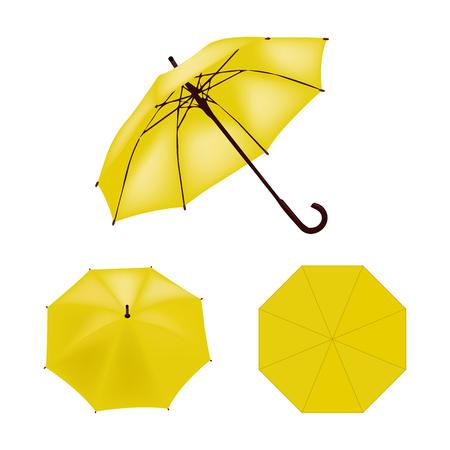 yellow umbrella: Yellow umbrella vector isolated Illustration