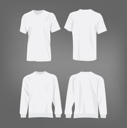 Sport wit t-shirt en trui geïsoleerd set vector Vector Illustratie