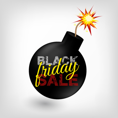 bomb price: Black friday sale bomb vector