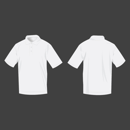 polo shirt: Sport white polo shirt  isolated vector Illustration