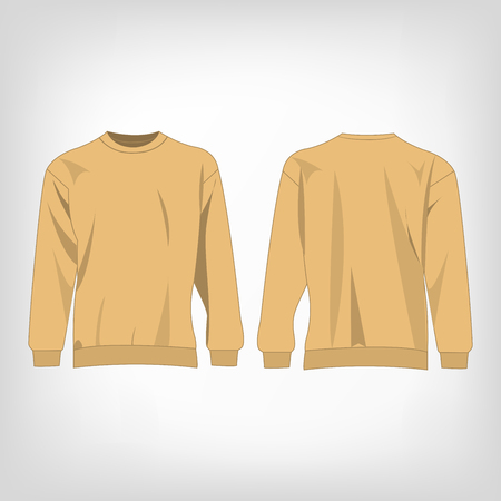 light brown: Sport light brown sweater isolated vector