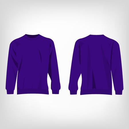 sueter: aislado su�ter violeta vector deporte