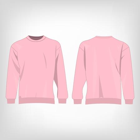 sueter: aislado deporte su�ter de color rosa vector