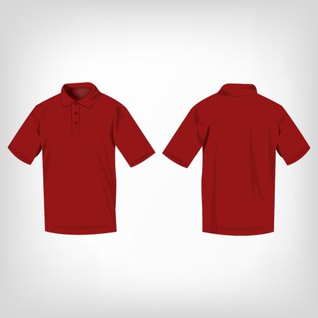 dark red: Dark red polo shirt isolated vector Illustration
