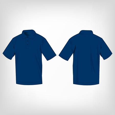 Blue polo shirt isolated vector Vektorové ilustrace