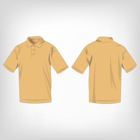 light brown: Light brown polo shirt isolated vector Illustration