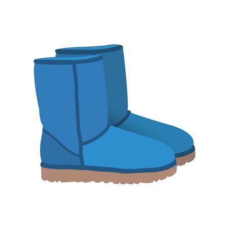 inverno blu chiaro breve vettore stivali