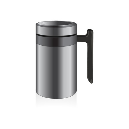 thermo: Vector thermo mug, travel mug