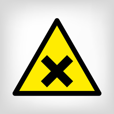 toxic accident: Danger sign yellow triangle vector
