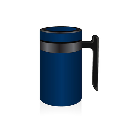 thermo: Vector blue thermo mug, travel mug Illustration
