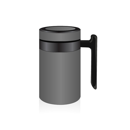 thermo: Vector grey thermo mug, travel mug Illustration