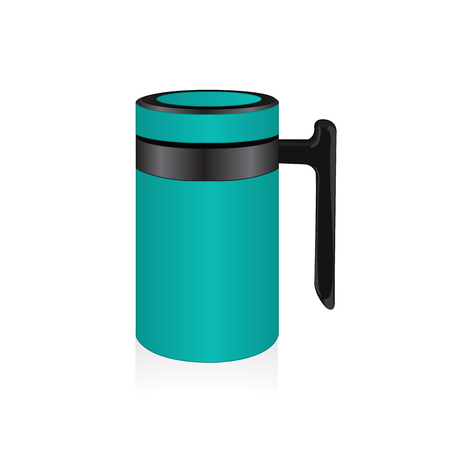 turquiose: Vector turquiose thermo mug Illustration