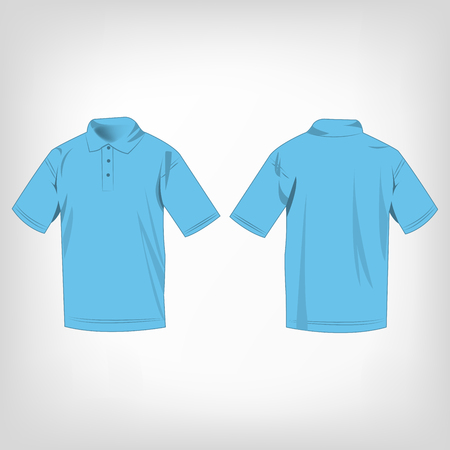 baby blue: Baby blue polo shirt isolated vector Illustration