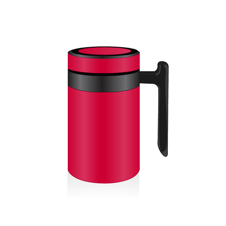 thermo: Vector hot pink thermo mug