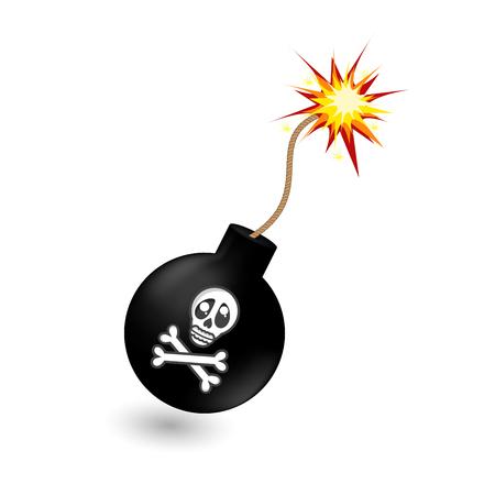 warhead: Pirate cartoon black bomb
