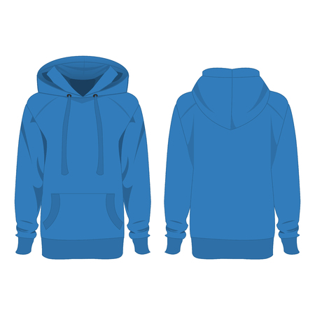 hoody: Light blue hoodie isolated