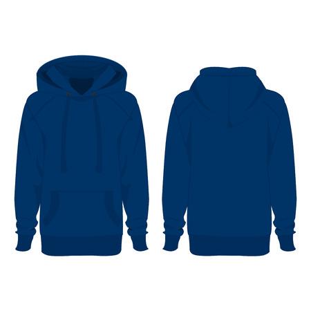 geïsoleerd licht blauwe hoodie Vector Illustratie