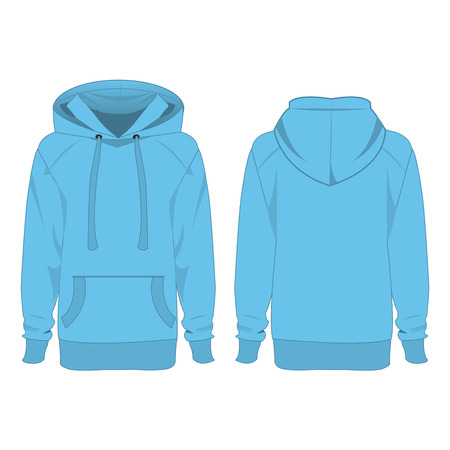 baby blue hoodie isolated vector