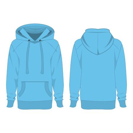 baby blue hoodie isolated vector Banco de Imagens - 60715546