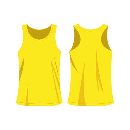 Yellow sport top vector