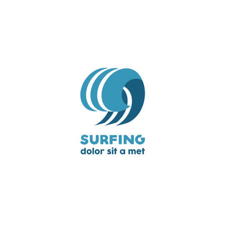 surfing wave: Surfing  , wave silhouette vector Illustration