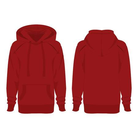 hoodie: Dark red hoodie isolated vector