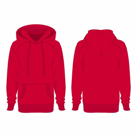casual hooded top: Hot pink hoodie isolated vector