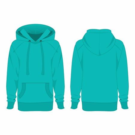 hoodie: Turquoise hoodie isolated vector