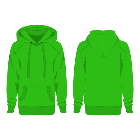 Light green hoodie isolated vector on the white background