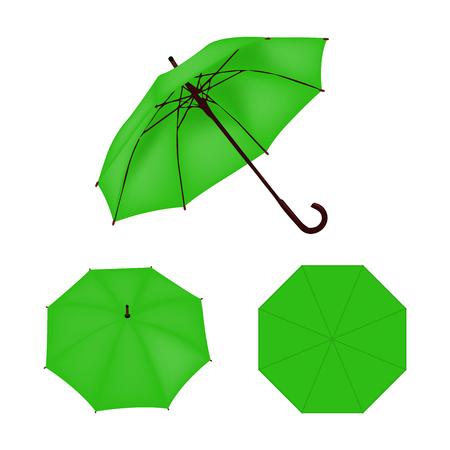 light green: Light green umbrella  isolated Illustration