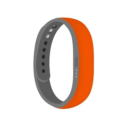Orange color smart band isolated