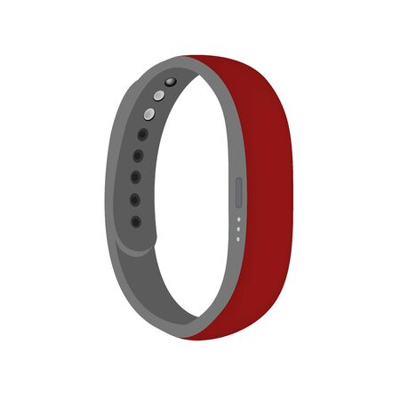 Dark red, burgundy color smart band vector isolated