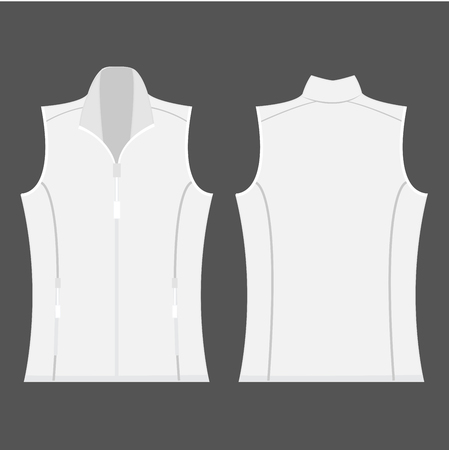 vest in isolated: white color autumn fleece vest isolated vector