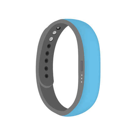 baby blue color smart band vector isolated Illustration