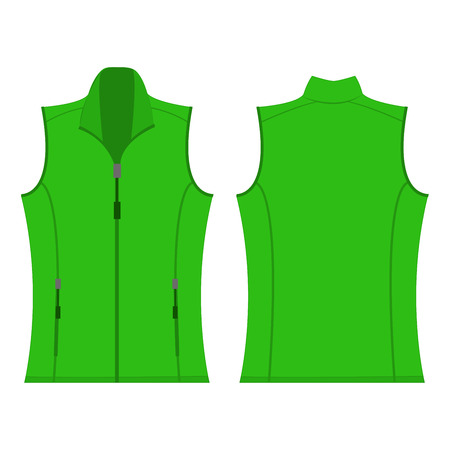 vest in isolated: light green color autumn fleece vest isolated vector