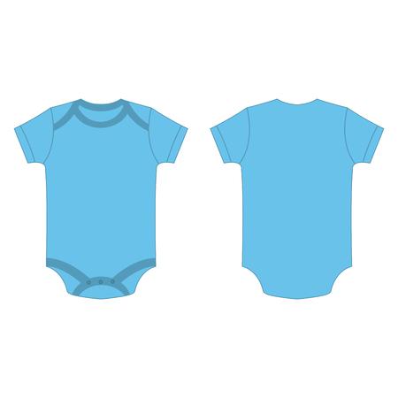 blaue Babybabystrampler des Babys blaue lokalisierte Vektor auf dem weißen Hintergrund