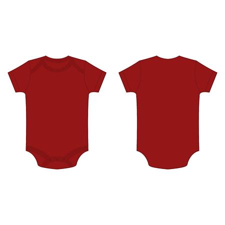 romper: dark red burgundy baby bodysuit romper vector isolated