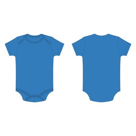 romper: light blue baby bodysuit romper isolated vector on the white background