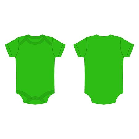 romper: light green baby bodysuit romper isolated vector on the white background Illustration