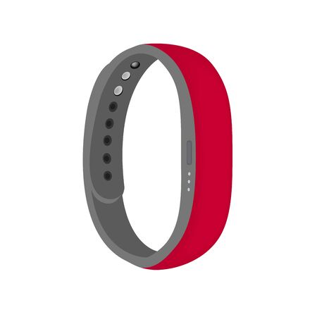Hot pink color smart band vector isolated on the white background