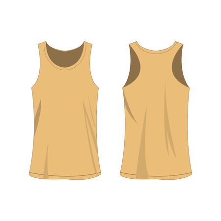 light brown sport top isolated vector